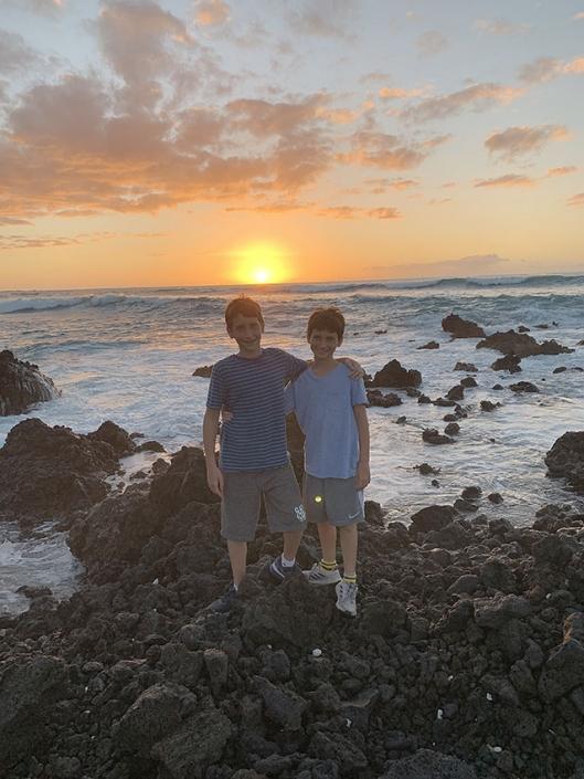My sons Daniel and Jonathan in Hawaii, 2019