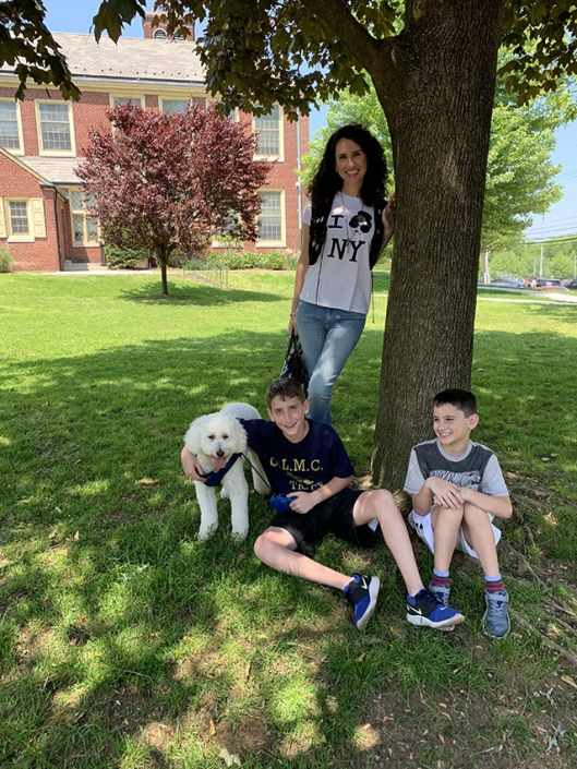 Daniel, Jonathan, Lazer (my dog), and me in New Jersey, 2019