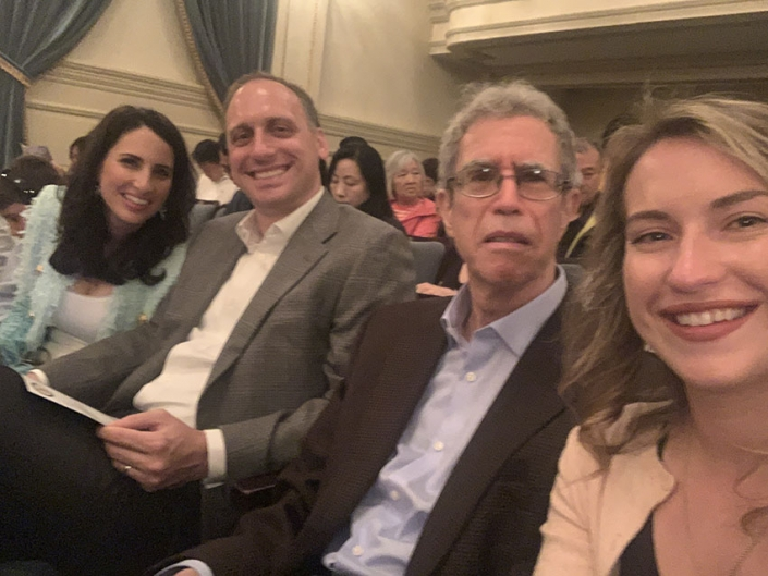 """Me, Sean, my dad, and my cousin Alexis at Carnegie Hall to watch Jonathan perform for """"Little Mozarts,"""" 2019"""