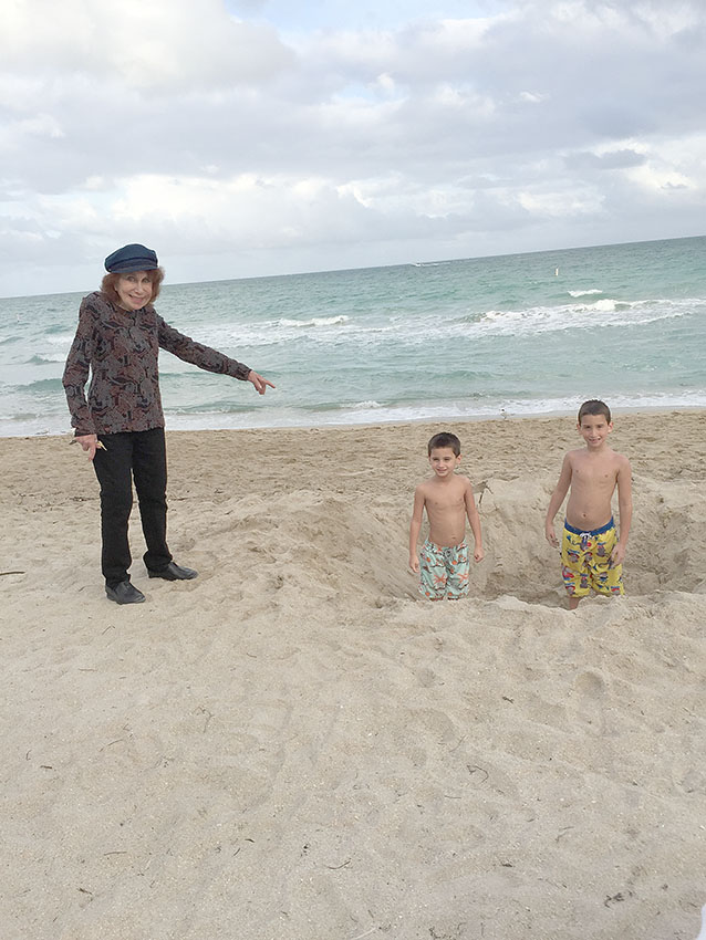 Nanny and my kids in Bal Harbour, FL, 2015