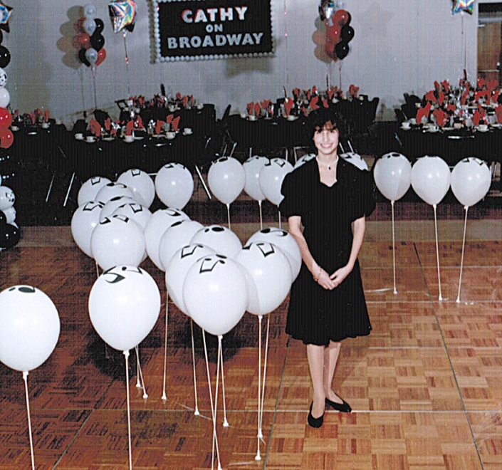 Me at my Bat Mitzvah party in Columbus, 1995