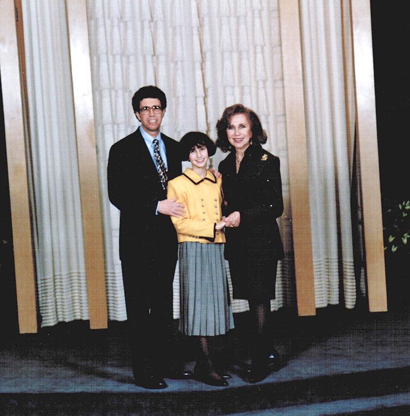 Dad, Nanny, and me at my Bat Mitzvah, 1995