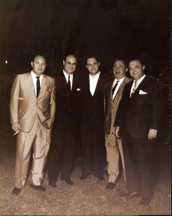 Papa and his brothers: (from left) Saul, Alvin (Papa), Jerome, Uncle Sam, and Leon