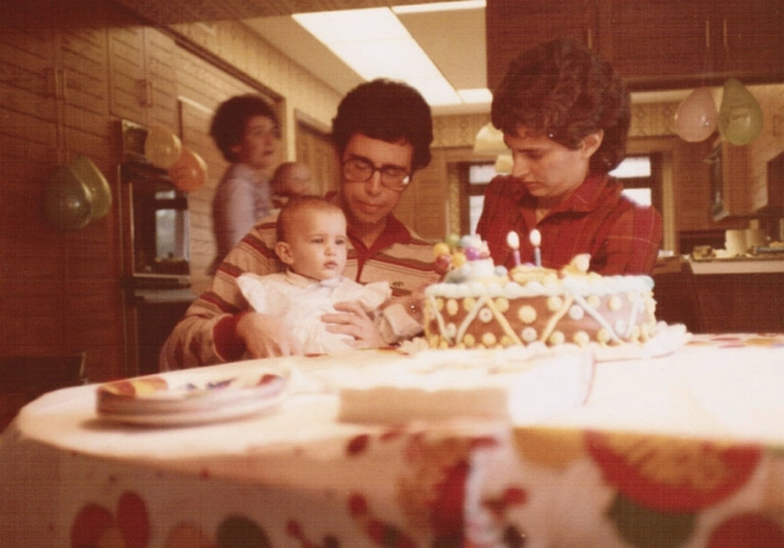 My first birthday with Mom and Dad at my father's house in Columbus, Ohio, 1983