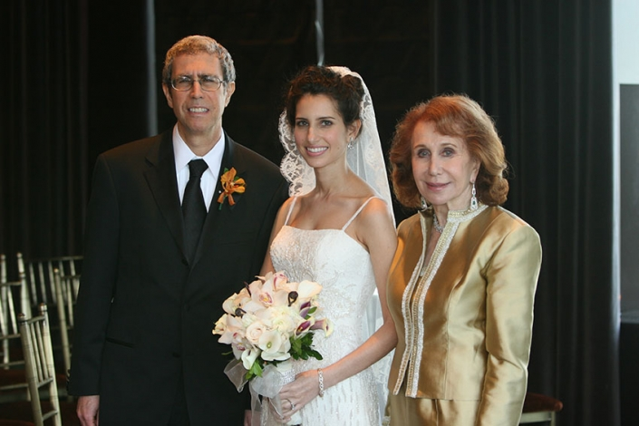Dad, Nanny, and me at my wedding, 2006