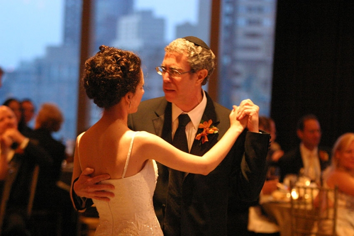 Dad and me dancing at my wedding in NYC, 2006