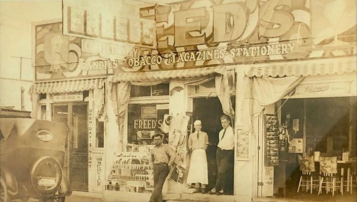 "Nanny's father's store in Miami, Florida, ""Freed's"""