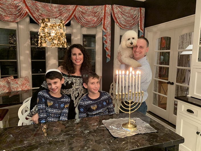 Hanukkah with my family in New Jersey, 2018