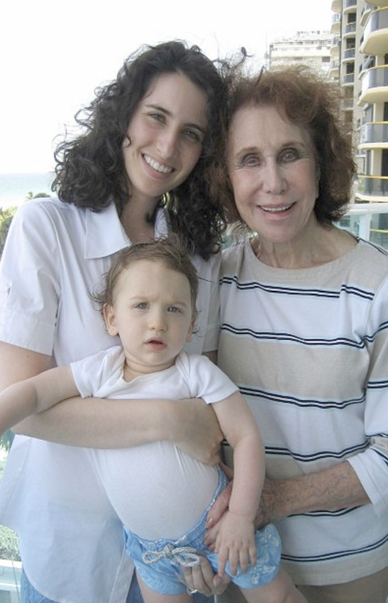 Nanny, me, and baby Daniel in Bal Harbour, Florida, 2009