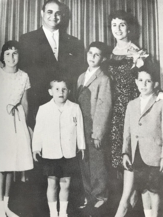 Nanny, Papa, and their four kids Randee, Gary, Chuck (my dad), and Bobby (from left)