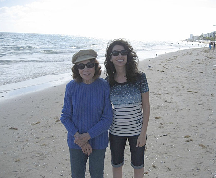 Nanny and me at the beach in Bal Harbour, Florida, 2013