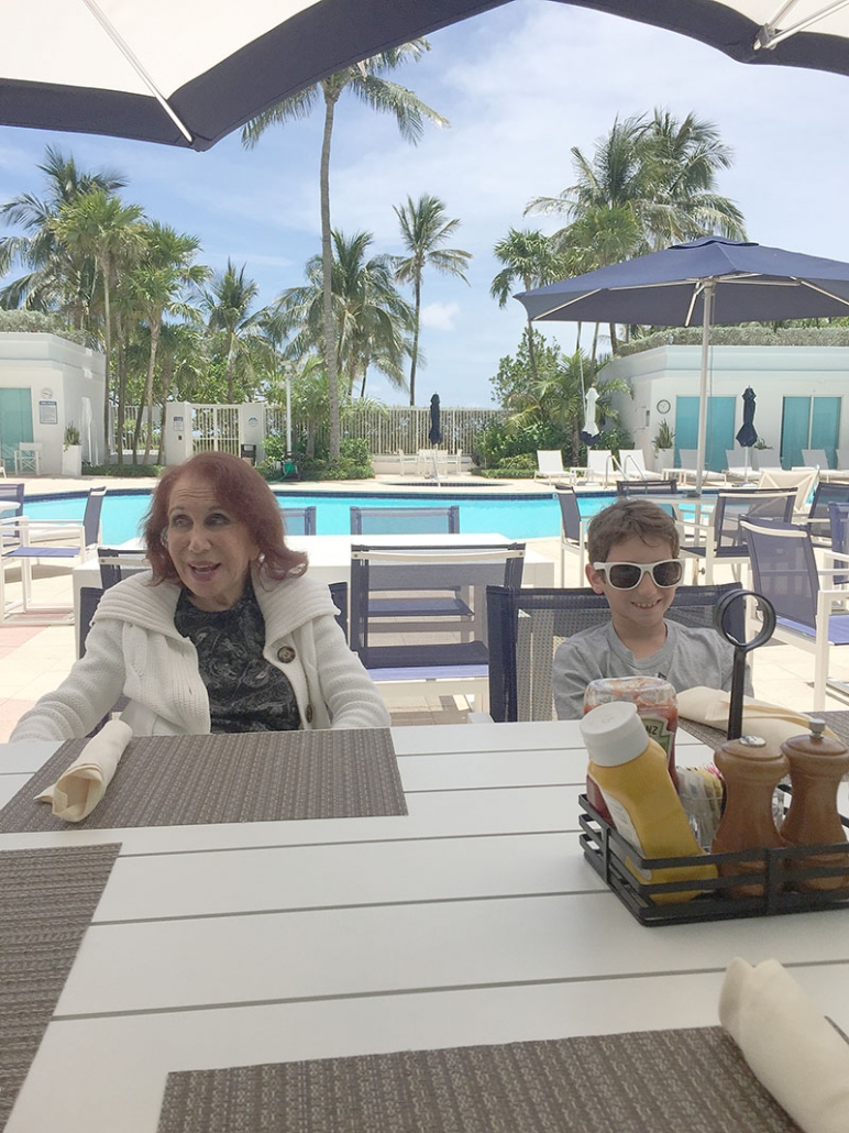 Nanny and Daniel in Bal Harbour, FL, 2018