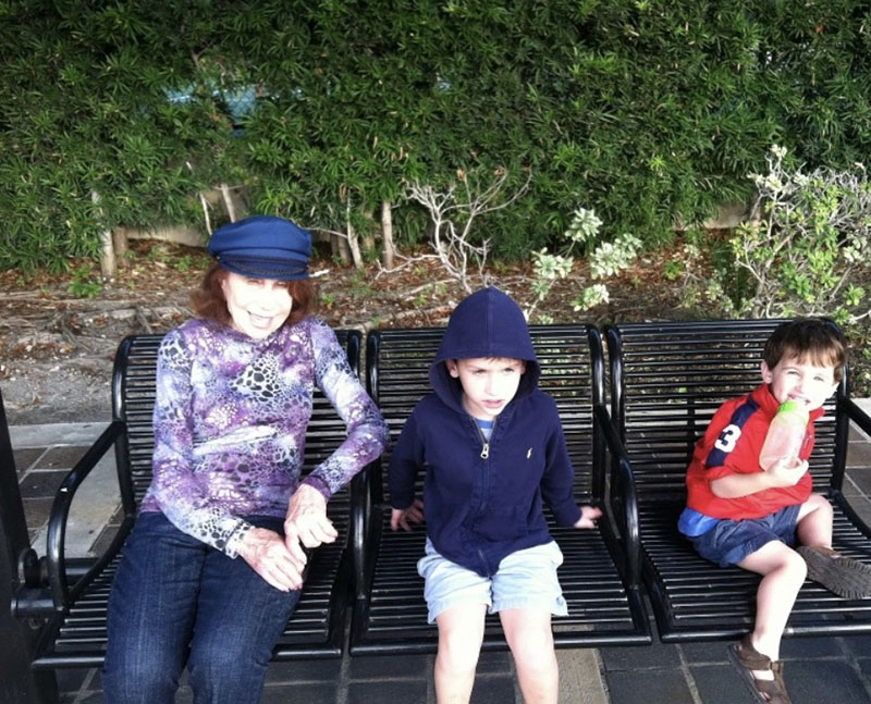 Nanny and my kids Daniel and Jonathan in Bal Harbour, Florida, 2013
