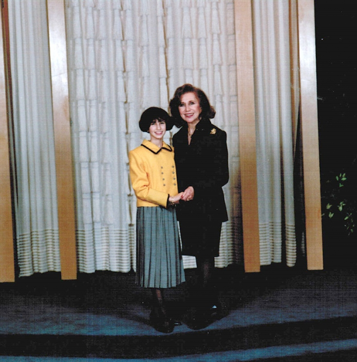Nanny and me at my Bat Mitzvah, 1995