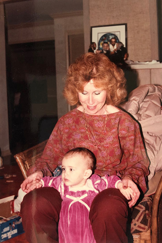Nanny and me in Ohio, 1982