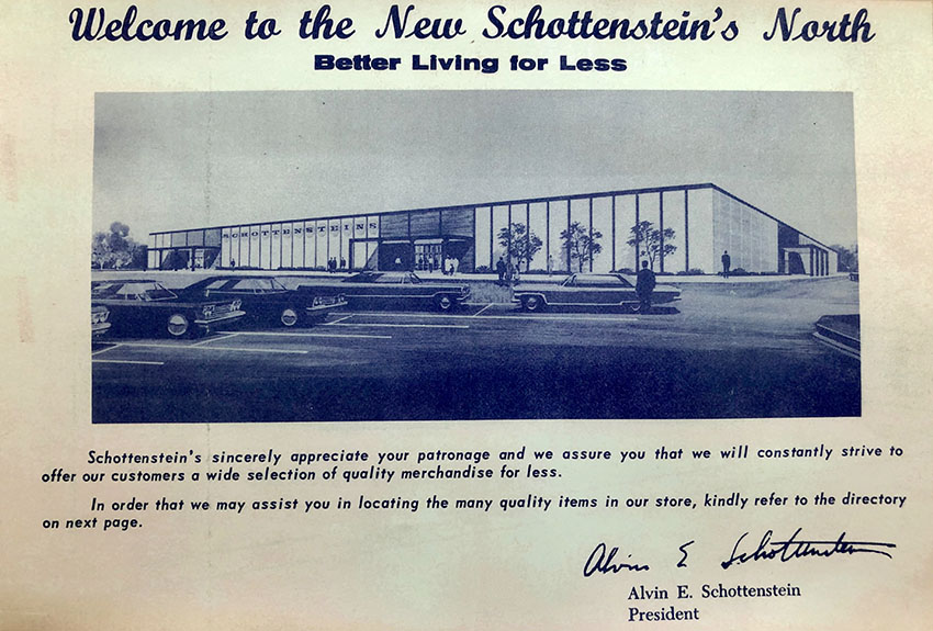 Schottenstein's department store advertisement featuring my grandfather Alvin as President