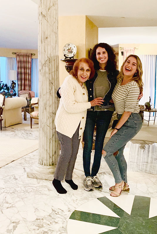 Nanny, me, and Alexis in Bal Harbour, FL, 2018- a few days before the scandal broke