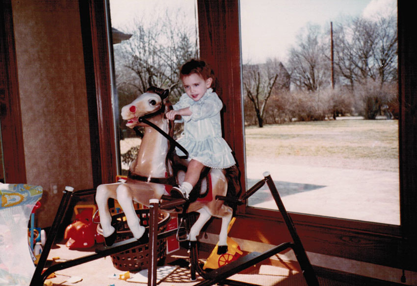 Me at my father's house before my parents' divorce, 1983