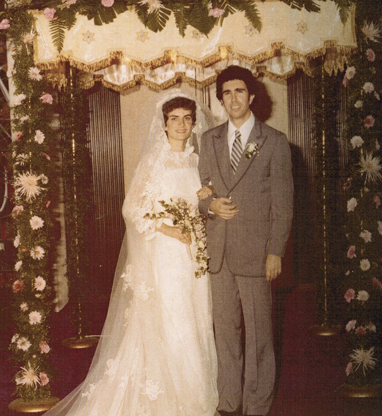 Mom and Dad at their wedding in Columbus, 1981