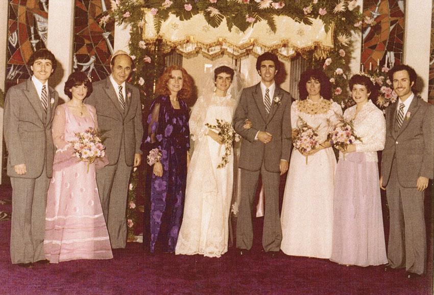 My parents' wedding, 1981: (from left) Gary, Gail, Papa Alvin, Nanny, Mom, Dad, Randee, Caroline, and Bobby