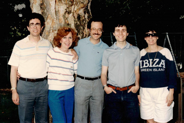 Dad, Nanny, Bobby, Gary, and Randee (from left), Columbus, OH, 1984