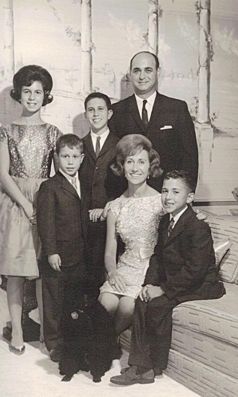 Randee, Dad, Alvin, Gary, Nanny, and Bobby (from left)