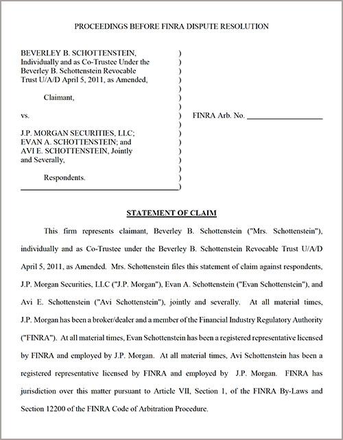 Dispute Resolution Document